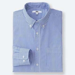 超柔棉府綢條文襯衫