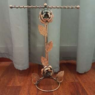 Rustic Rose Gold Necklace Holder