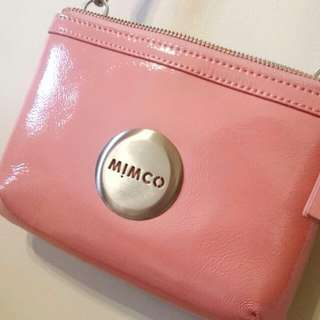 Mimco Secret Couch Pink Leather Sidebag