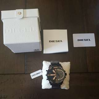 Diesel Mr daddy 2.0 black/rose gold chrono watch