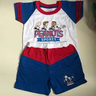 Peanuts Set Shorts and T-Shirt