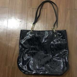 Authentic Shiny Black with gold chain strap Michael Kors Bag