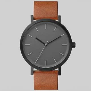 Imported genuine leather casual and business watch