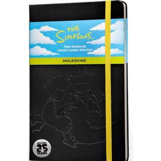 Moleskine The Simpsons Limited Edition Hard Plain Large Notebook