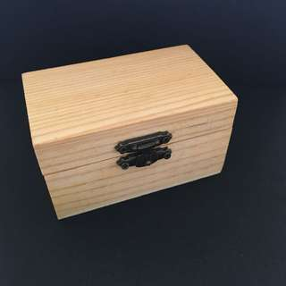 Mini Wooden Box with Vintage Lock