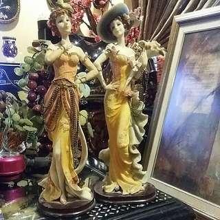 """2 Pcs English Ladies Dolls 15"""" Tall"""
