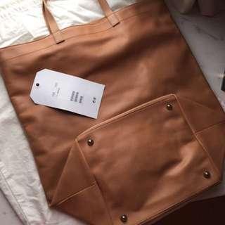 Martin Margiela Mmm X H&m Tote Bag 皮袋