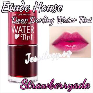 INSTOCK Etude House Dear Darling Water Tint - STRAWBERRYADE / Etude House Tint Water / EtudeHouse Water Tint in Strawberryade