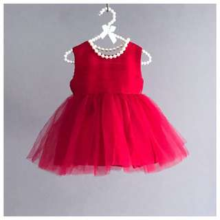 8085d32a9 Georgette Red Tutu Dress/ Birthday Dress/ Formal Dress/ Gown/ Flower Girl  Dress
