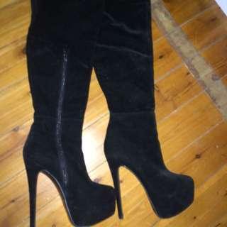Thigh high platform boots