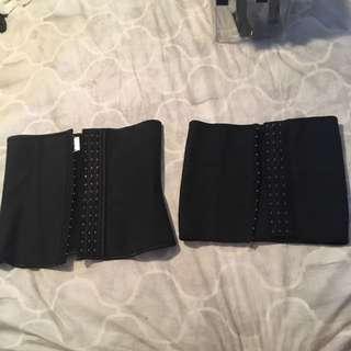 2 x size 8-10 waist trainers