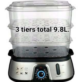 CORNELL CS-202 3-TIER FOOD STEAMER