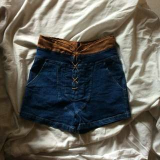 criss cross high waisted short