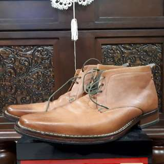 Ted Baker Leather Derby Boots UK8