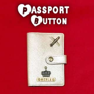 Personalized Passport Holder With Free Charm