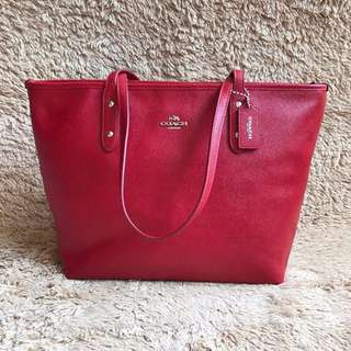 Tas Coach F58846 City Zip Tote Red