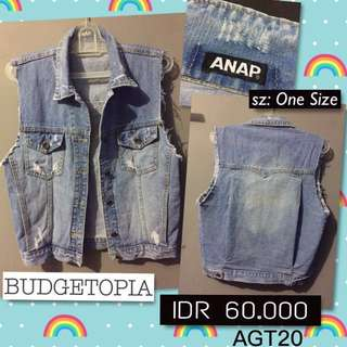 ANAP ripped denim vest