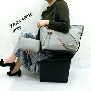 ZARA Bag Warna Khaki Uk 30x40