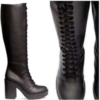 H&M leather boots