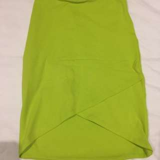 Kookai - Fluro yellow skirt