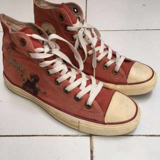 Converse All Star Chuck Taylor High Red Fade 1948 Basketball