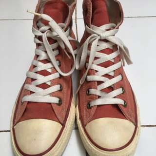 Converse high red fade basketball 1948 size US 9