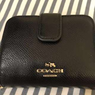 Coach 黑色短夾