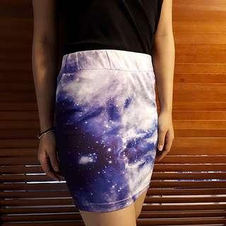 Galaxy Short Skirt #Deepavali50
