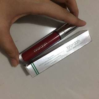 Wardah lip cream shade red