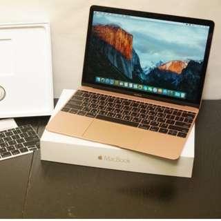 Apple 2016新款 12吋 Retina MACBOOK 256GB 筆記型電腦 玫瑰金