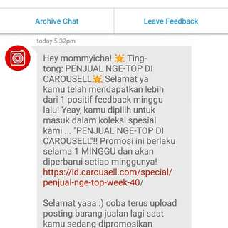 Top Seller lagi !!! Thank you buyers, thank you carousell