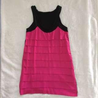 Zara Hot Pink Mini Dress