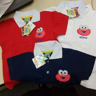 Elmo tshirt size 1 year red & blue only 2 year only white available