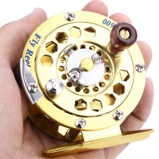 💯 BF600 Aluminum Cut Fly Fishing Vessel Reels Gold Disk Drag with Retail Box