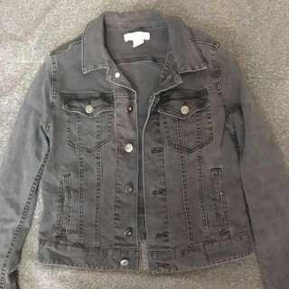 H&M Dark Gray/Black Denim Jacket