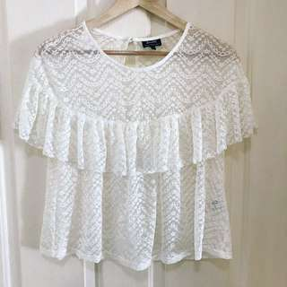 New Bardot lace top Sz 8