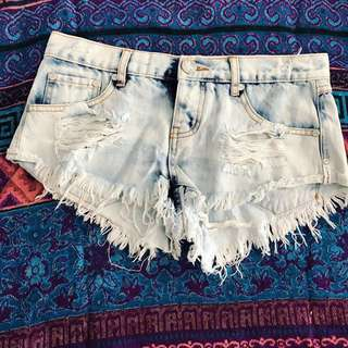 One Teaspoon Denim Shorts Sz 8