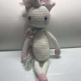 Crochet handmade Twinkle Toe Unicorn ( pink )