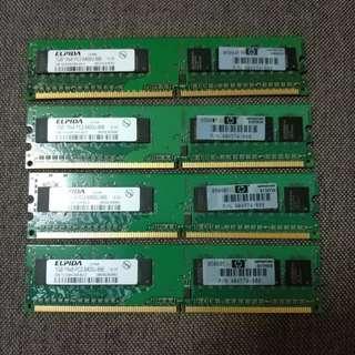 二手 DDR2-800 1G 桌上型 記憶體 DDR ll 800 RAM