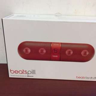 Beats Pill Portable Bluetooth Speaker (Red)