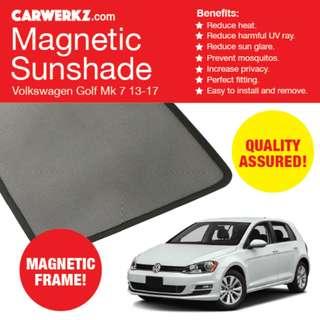 RESTOCKED: Quality Volkswagen Golf 13-17 7th Gen MK7 4pc Magnetic Sunshades