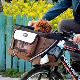 bicycle basket designed for dog cat safe bag saddle cute petcomer