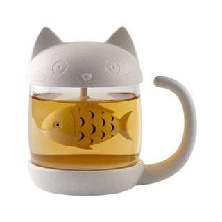 🐱貓咪 貓奴 泡茶 茶杯 濾泡 浸泡過濾杯 濾網 全新 附盒