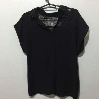 Black Sheet Blouse