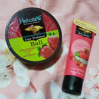 Herborist Strawberry Scrub & Body Butter