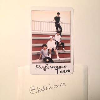 {USA ONLY} Seventeen: Performance Team Al1 Official Photocard