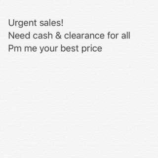 Urgent sales
