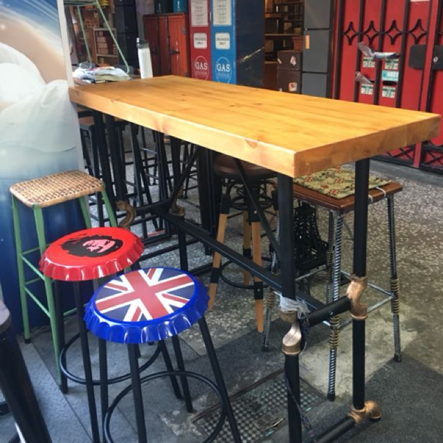 工業風巴台桌