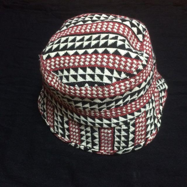 編織不規則紋路漁夫帽