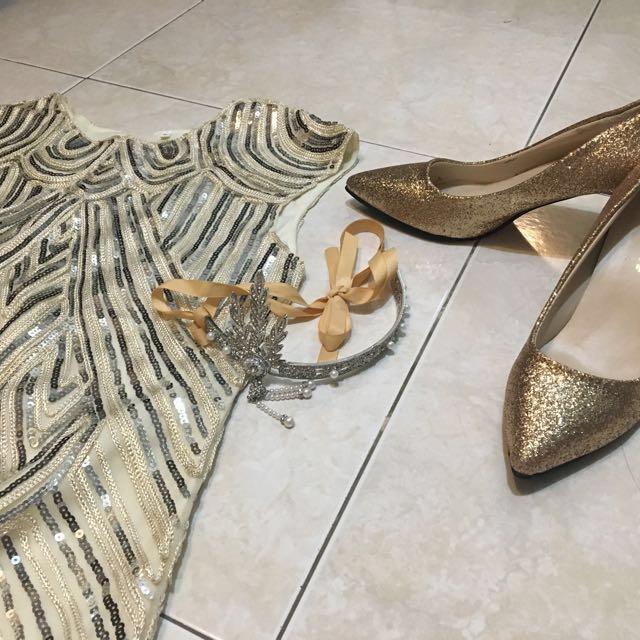 大亨小傳 1920美國復古 小禮服 黛西 派對 跑趴 亮片 奢侈拜金